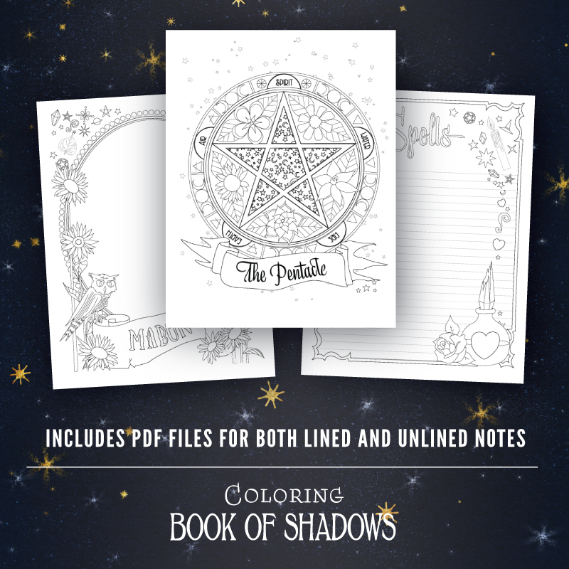 Coloring Book of Shadows Printable Pages