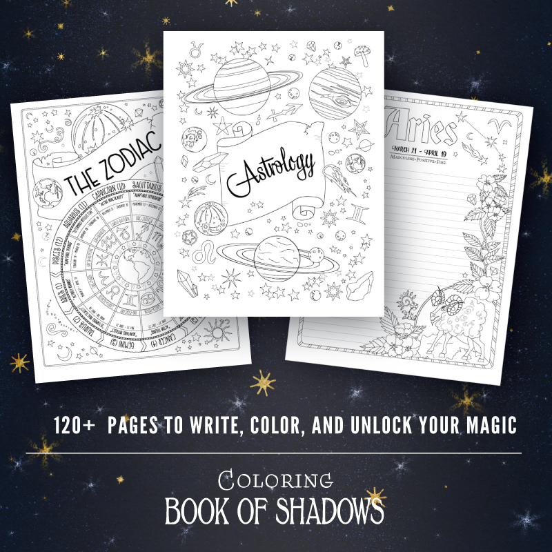 Coloring Book of Shadows PDF Grimoire Pages
