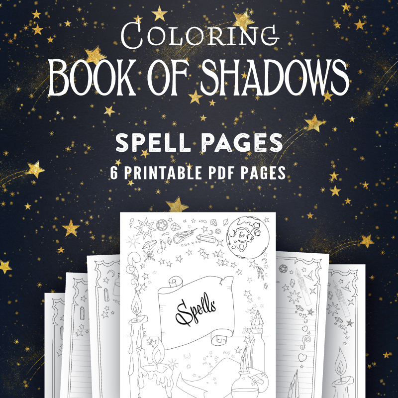 Bright image with regard to printable book of shadows
