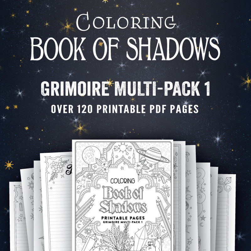 graphic relating to Printable Book of Shadows named Printable Guide of Shadows Web pages - Coloring E-book of Shadows