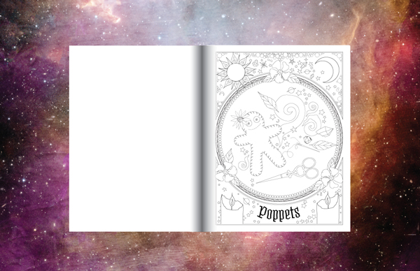 Book of Spells Coloring Book