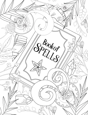 It is a photo of Divine book of shadows coloring pages free
