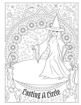 photo relating to Printable Book of Shadows identified as E book of Spells - Coloring Ebook of Shadows