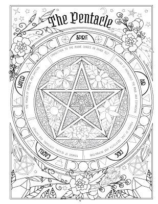 over 70 pages of witchy magical art color explore and add your own spells - Coloring Book Images