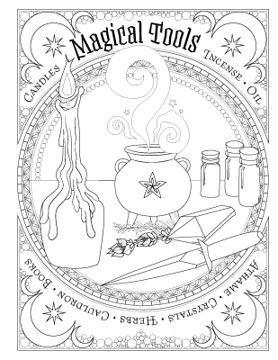 graphic regarding Printable Book of Shadows named Reserve of Spells - Coloring E book of Shadows