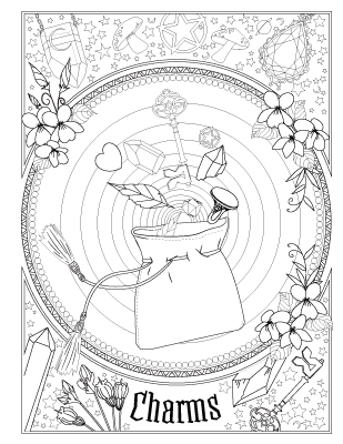 It's just a photo of Eloquent book of shadows coloring pages free