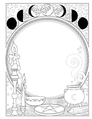 This is an image of Gratifying book of shadows coloring pages free
