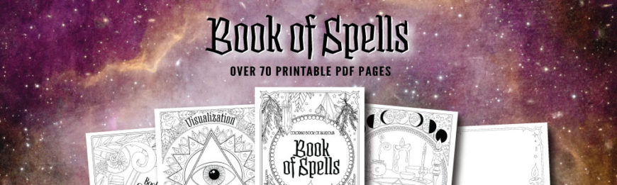 graphic relating to Printable Spell Book Pages identified as E-book of Spells Printable Coloring Webpages - Coloring Reserve of