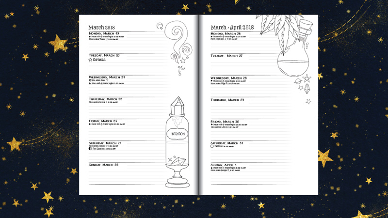 Coloring Book of Shadows 2018 Planner