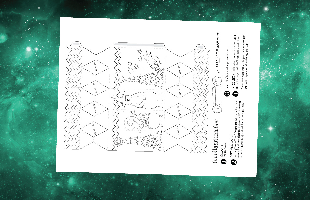 Yule Papercraft For A Magical Solstice Coloring Book Of
