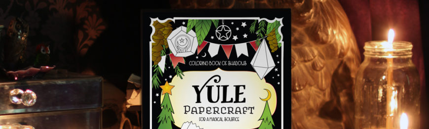 Yule Papercraft Coloring Book