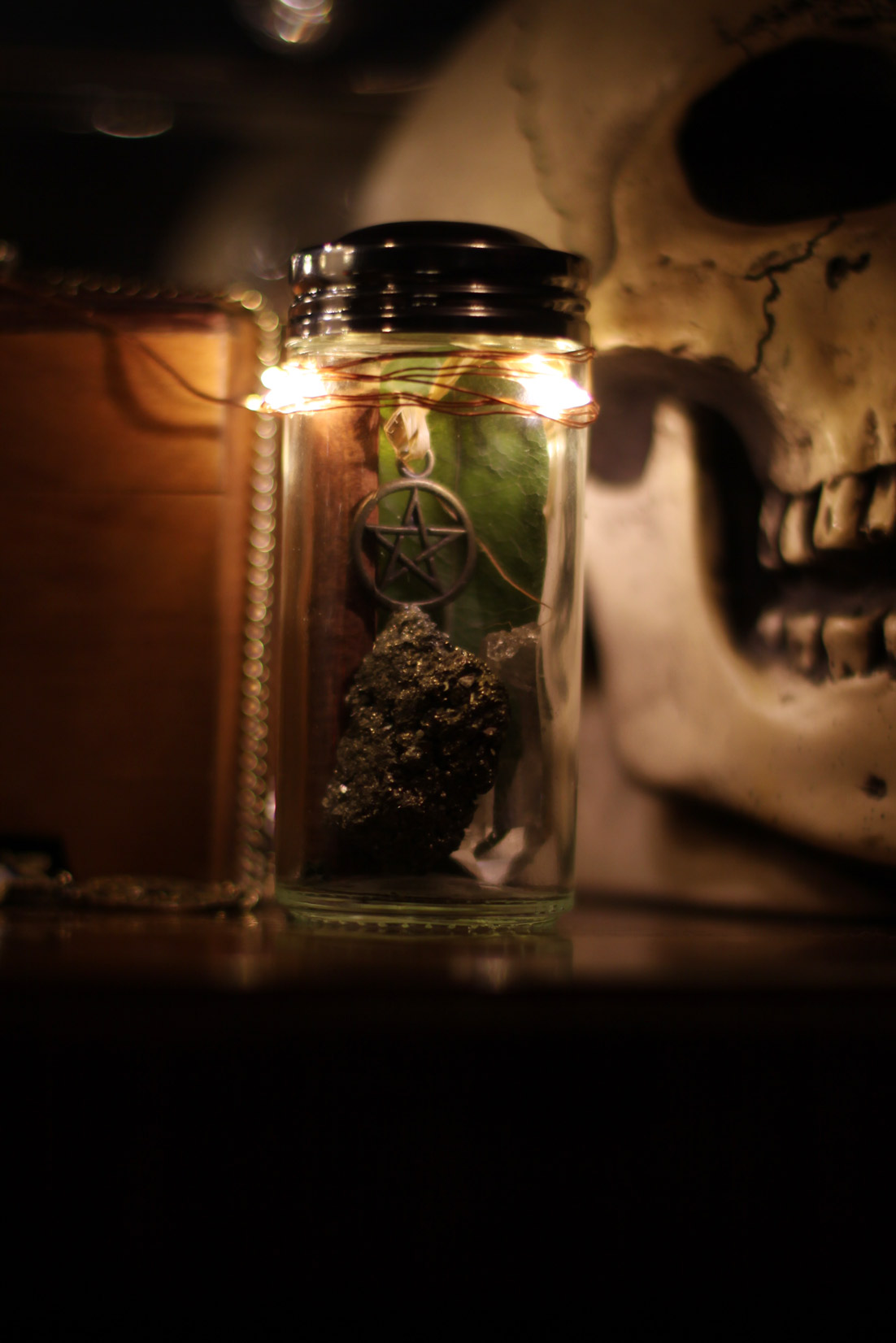 Make these magical Witch Jars for a Sabbat Altar