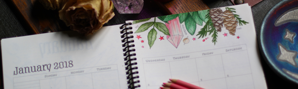 Planner for a Magical 2018 Coloring Pages