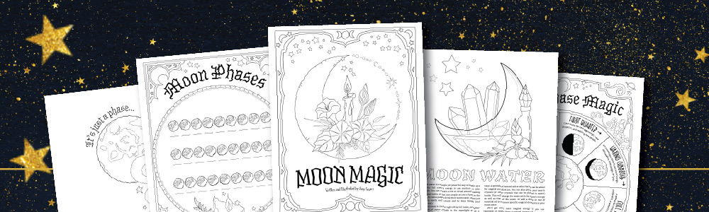 Moon Magic: A Free 6-Page Coloring Set