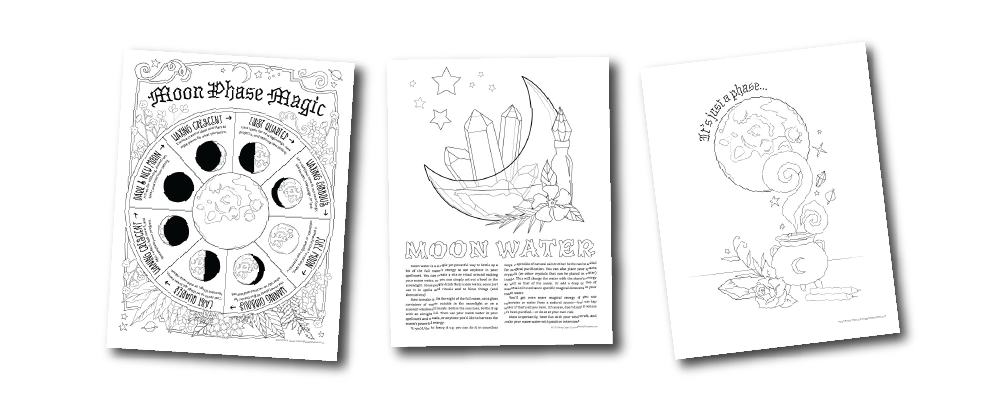 Moon Magic Coloring Book Of Shadows