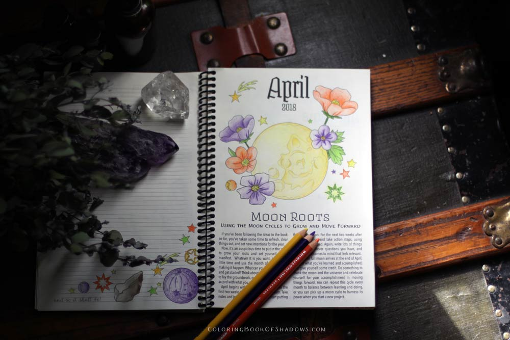 A glowing moon and more magical coloring inspiration