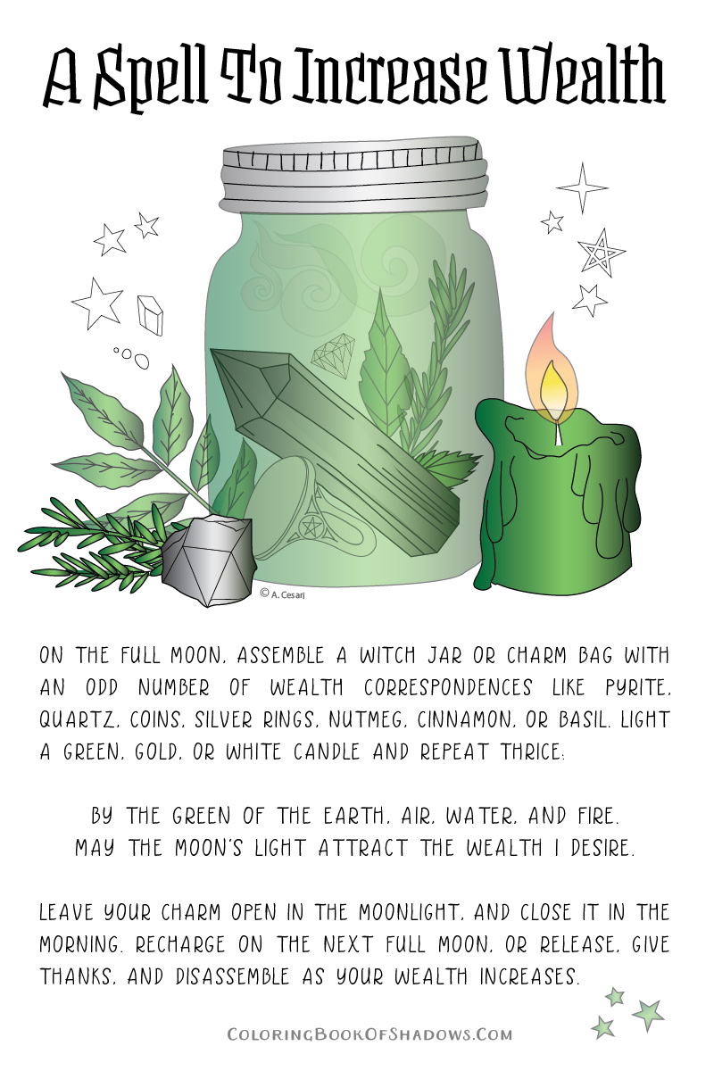 A Money Spell and witchcraft charm