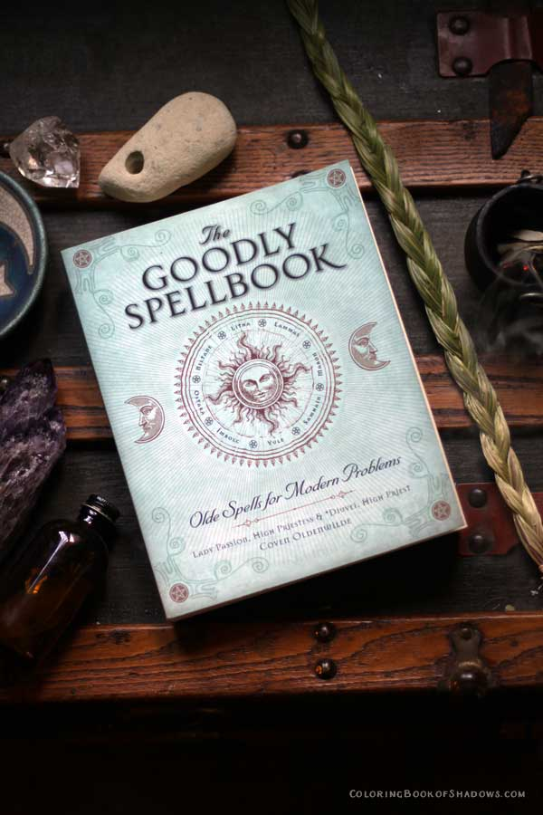 I love this book! The Goodly SpellBook by Lady Passion and Diuvei. Check out more of my favorite witchcraft books, spell books, and other witchy things to read.