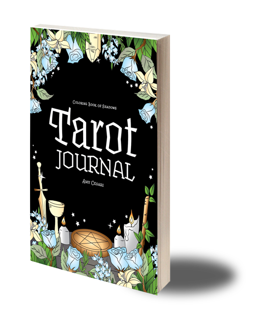 picture about Free Printable Tarot Journal called Tarot Magazine - Coloring Guide of Shadows