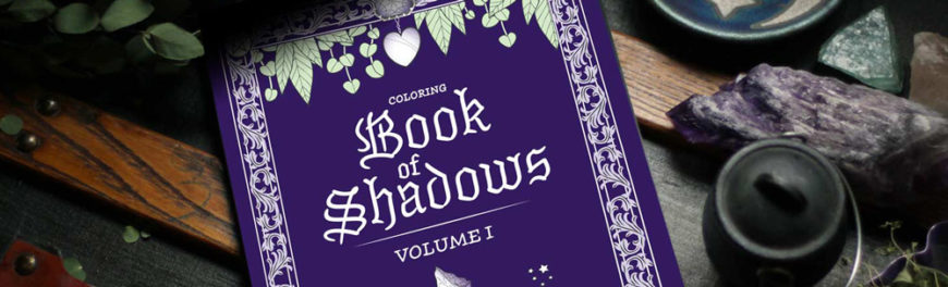 Coloring Book of Shadows. Write your Grimoire on inspiring illustrated pages.