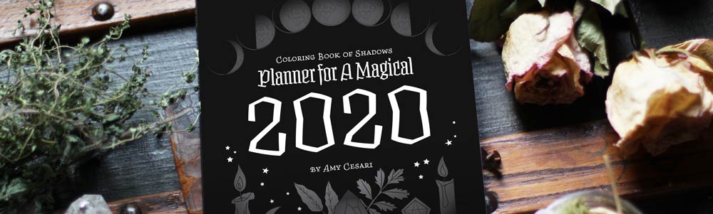 Coloring Book of Shadows 2020 Planner Sketch Preview