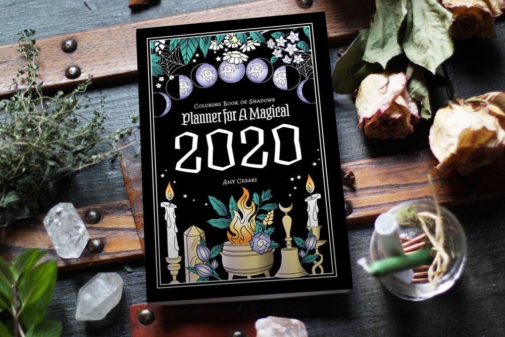 Coloring Book of Shadows: Planner for a Magical 2020 | Printable Grimoire Pages | Witchy Planners | Witchcraft Books